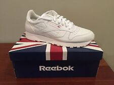 New Reebok Classic White Leather Shoes Men's Size 10
