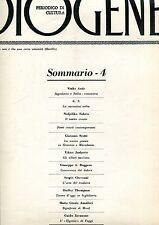 DIOGENE n° 4 1963 Antic Fabrio Scotti Jurkovic Roggero Checconi Thompson Amadori