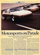 1985 Pontiac Fiero Race IMSA GTU Original Car Review Report Print Article J780
