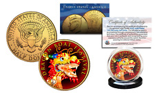 DRAGON BOAT CHINA FESTIVAL Duanwu Festival 24K Gold Plated JFK Half Dollar Coin