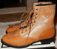Women Size 6.5 Ariat Country Western Cowboy Boots TAN Leather 11081 New