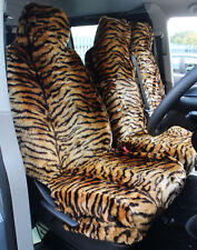 Ford Transit Mk 7 (06-13) GOLD TIGER Faux FUR VAN Seat COVERS - Single + Double