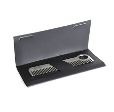 Beard Comb - Titanium Model No.1 - Moustache and Beard Grooming Tool