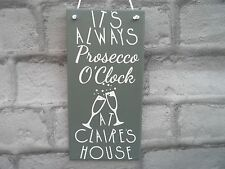 Personalised Prosecco O'clock Plaque Any name Housewarming New Home Friend Gift