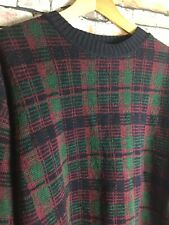 Vintage 90s Bass Coogi Like/ Cosby Style American Made Large Wool Sweater