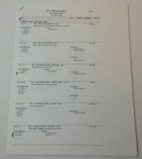 ONE TREE HILL set used SHOOTING SCHEDULE ~ Season 1, Episode 11