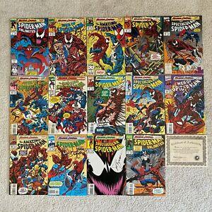 Marvel Spider-Man Maximum Carnage 1-14 Dynamic Forces Signed Set COA 662/3000 NM