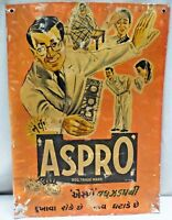 Bayer Aspro For Fever And Pain Vintage Advertise Tin Sign Chemist Collectibles#3