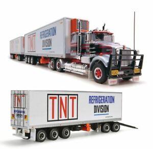 HIGHWAY REPLICAS TNT KENWORTH FREIGHT ROAD TRAIN 3 TRAILERS 1:64 MODEL TRUCK