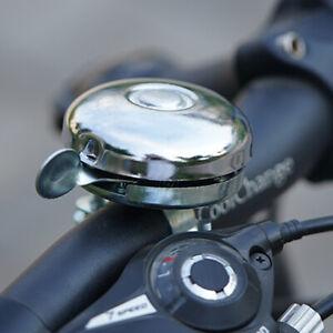 Classic Retro Metal Ring Bike Bicycle Cycling Handlebar Silver Bell Sound Alarm~