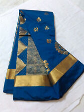 Peacock Green Silk Soft Saree Grand Pallu Hand Work Saree W/B Uppada Silk Saree