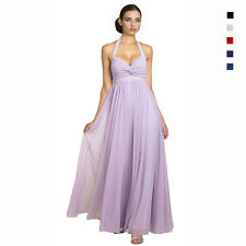 Beaded Halter Neck Full Length Formal Evening Gown Bridesmaid Dress ed8430