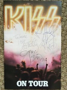 KISS 1976 DESTROYER Concert Program Book Signed w/Inserts