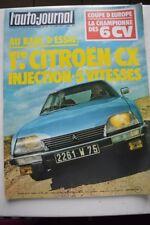 L AUTO JOURNAL 10 1977 CITROEN CX 2400 GTI PEUGEOT 104 GL GS SPECIAL FIAT 128 CL