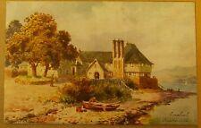 Old artist signed postcard.H.B.Wimbush.Gareloch.Roseneath.Dunbartonshire