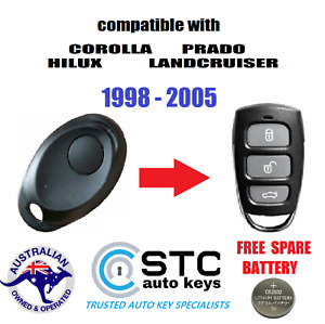 SUITS TOYOTA COROLLA PRADO LANDCRUISER HILUX CAR REMOTE  FOB 1998-2005