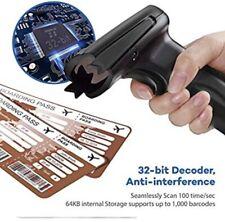 Hoo Too Usb Barcode Scanner Wired Handheld Black Laser Bar Code Scanner