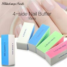 10pcs Sponge Nail File Buffer Sanding Block Nail Block 4 Way Sandpaper Nail File