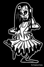 "Zombie Kid Girl Teen Daughter Family Car Decal Sticker  ""The Walking Dead"""