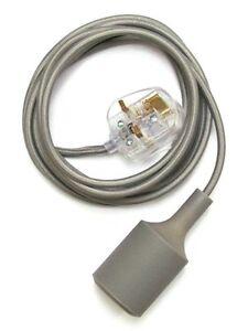 That Haus Modern Designer Grey Silicone Wall Lighting Lamp - 3m Cable + uk plug