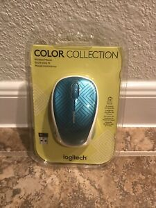 Logitech M325C Color Collection Wireless Mouse Teal Geometric Brand New Sealed