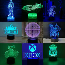 3D Night Light 7 Colors Change LED Table Desk Lamp Bedroom Home Decor Xmas Gift