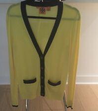 Tory Burch Women's Yellow 100% Wool Cardigan Sweater Button Down Size S