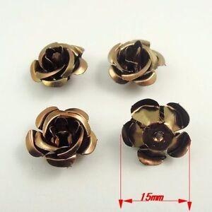 200pcs Metal Flower Spacer Bead Cap Bracelet Necklace Dangle Jewelry DIY 15*10mm