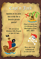 Pirates Theme Invitations