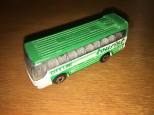 1:87 1986 MATCHBOX BUS IKARUS COACH TOURIST CITY LINE MADE IN CHINA