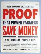 10x14 Original 1939 Standard Oil Ad PROOF THAT POWER FARMERS SAVE MONEY