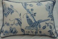 "18""x12""  Laura Ashley Summer Palace royal  blue/piped Cushion Cover"
