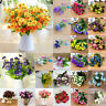 Bridal Wedding Silk Flowers Party Bouquet Posy Hydrangea Floral Home Decoration