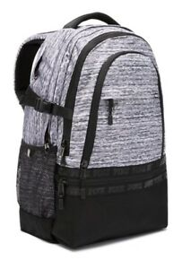 Pink Collegiate Backpack Victoria's Secret Bookbag School Bag Zip Pockets New