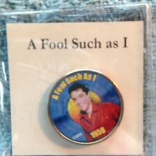 """NOS ELVIS PRESLEY MYSTIC STAMP COLORIZED QUARTER TOP 40 HITS """"A FOOL SUCH AS I"""""""