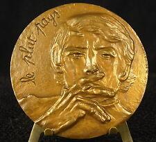 Médaille Jacques Brel Le plat Pays Belgique Signé N Etchecopar Medal 勋章 Chanteur