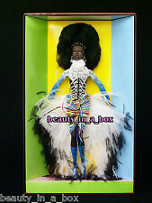 "MBILI Barbie Doll Treasures of Africa Byron Lars African American AA NRFB Wear """