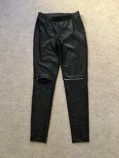 Calzedonia Leggings Jeggings Leather Look Pants Size 8 S Small
