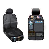 2 Packs Child Car Seat Protectors & Kick Mat Seat Cover with Backseat Organizer