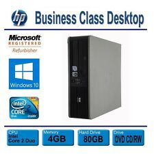 Hp Desktop Computer Pc, Windows 10, Dual Core 3.0Ghz, 4Gb, 80Gb Hdd, Free Ship