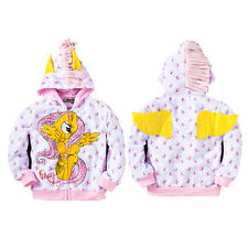 Girls My Little Pony Hoodie Wings Kids Jacket Sweater Twilight Rainbow Dash 0-8Y