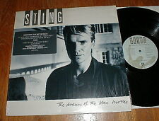 "STING Orig 1985 ""Dream Of The Blue Turtles"" LP INSERT SHRINK w SONG STICKER NM-"