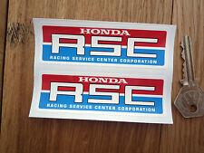 "HONDA RSC Race Bike Stickers 4"" Pair Racing Service Center Corporation Car CBRR"