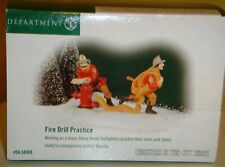 Dept 56 Christmas in the City Series Fire Drill Practice Firemen & Hydrant 58968