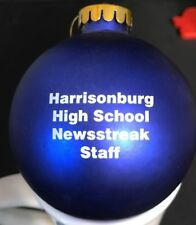 Harrisonburg VA High School Newsstreak Staff Newspaper Christmas ornament bulb
