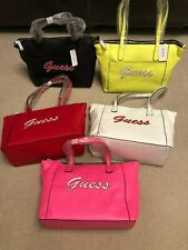 New Guess Women's Skools Out Tote Handbag Black White Red Pink Yellow