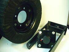 "Tail Wheel Hub & Yoke Bush Hog 15"" Wheel 4 Bolt Hub 1-1/4"" Yoke 3/4"" Hub Axle"