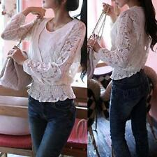 Lace Long Sleeve Petite Tops & Blouses for Women
