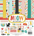 """New Echo Park MEOW - Cats 12"""" x 12"""" Collection Kit Scrapbook Card Paper Set"""