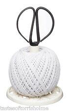 Kitchen Craft Cast Iron Garden String Ball Holder Spool Dispenser & Scissors Set
